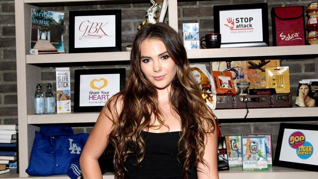HOLLYWOOD, CA - MARCH 27: Gymnast McKayla Maroney attends the GBK & Stop Attack Pre Kids Choice Gift Lounge held at The Redbury Hotel on March 27, 2015 in Hollywood, California.   Tommaso Boddi/Getty Images for GBK Productions/AFP