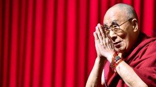 Tibet's exiled spiritual leader the Dalai Lama gestures during a public debate in Brussels, September 11, 2016. REUTERS/Eric Vidal