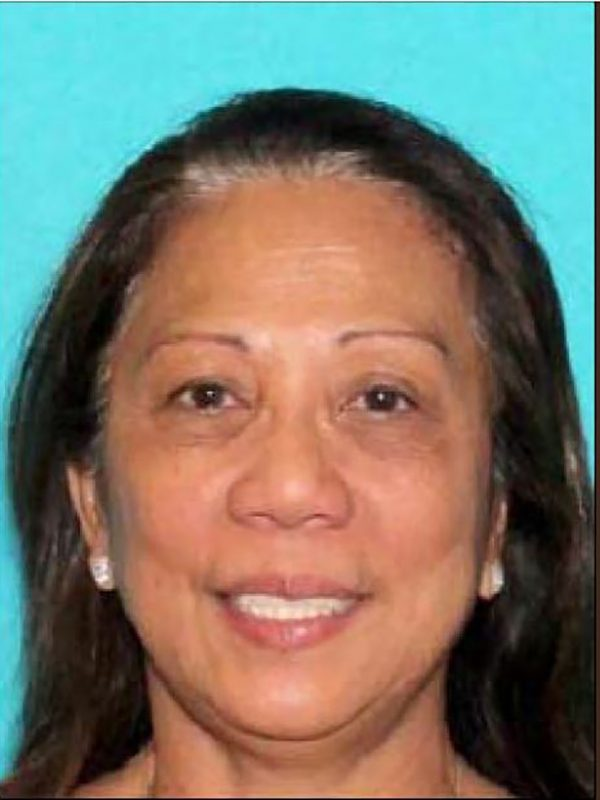 """This undated portrait released on October 02, 2017 by the Las Vegas Metropolitan Police shows Marilou Danley the alleged companion or roommate of the gunman that killed at least 20 people and wounded more than 100 others during a country music concert as she is being sought for questionning.   The gunman, who police said was a local resident, was killed after being """"engaged"""" by officers who responded to report of multiple gunfire coming from the 32nd floor of the Mandalay Bay, a hotel-casino next to the concert venue. / AFP PHOTO / Las Vegas Metropolitan Police Department / - / RESTRICTED TO EDITORIAL USE - MANDATORY CREDIT """"AFP PHOTO / LAS VEGAS METROPOLITAN POLICE DEPARTMENT """" - NO MARKETING - NO ADVERTISING CAMPAIGNS - DISTRIBUTED AS A SERVICE TO CLIENTS"""