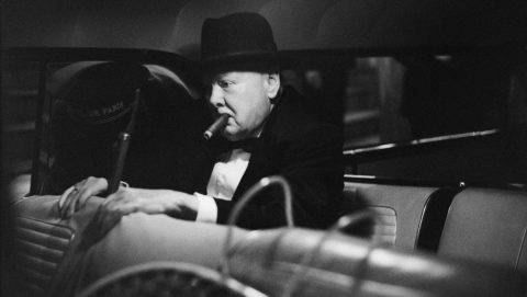 Winston Churchill (1874-1965), British statesman, after a dinner with Aristotelis Onassis and Maria Callas at the restaurant of the  Monte Carlo casino, on July 22, 1959.