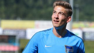 Hertha's new keeper Jonathan Klinsmann in action during a training session in Schladming, Austria, 31 July 2017. Photo: Expa/Martin Huber/APA/DPA/EXPA/MARTIN HUBER