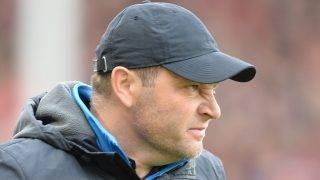 Berlin head coach Pal Dardai wrinkling his nose during the German Bundesliga soccer match between SC Freiburg and Hertha BSC in Freiburg, Germany, 22 October 2017.  (EMBARGO CONDITIONS - ATTENTION: Due to the accreditation guidelines, the DFL only permits the publication and utilisation of up to 15 pictures per match on the internet and in online media during the match.) Photo: Patrick Seeger/dpa
