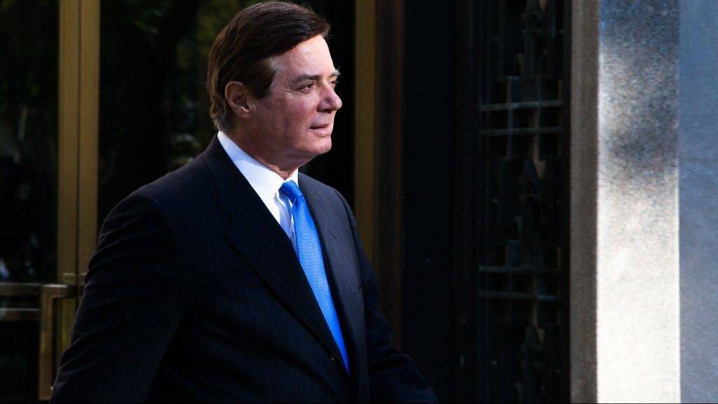 WASHINGTON, DC - OCTOBER 30: Former Trump campaign chairman Paul Manafort leaves federal court, October 30, 2017 in Washington, DC. Paul Manafort and Rick Gates, have been indicted by a federal grand jury in the investigation into Russian meddling in the U.S. election.   Keith Lane/Getty Images/AFP