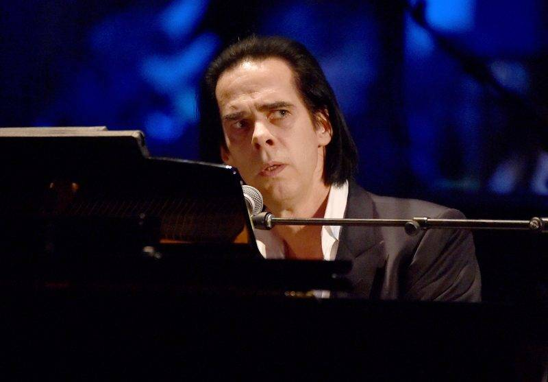 """LOS ANGELES, CA - APRIL 07:  Musician Nick Cave performs onstage during The David Lynch Foundation's DLF Live Celebration of the 60th Anniversary of Allen Ginsberg's """"HOWL"""" with Music, Words, and Funny People at The Theatre at Ace Hotel on April 7, 2015 in Los Angeles, California.  (Photo by Kevin Winter/Getty Images)"""