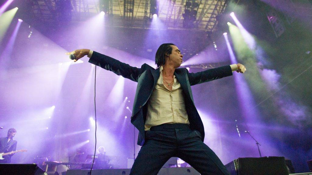 MONTREAL, CANADA - AUGUST 02: Nick Cave performs on day two of the Osheaga music festival on August 2, 2014 in Montreal, Canada. (Photo by Emma McIntyre/Getty Images)