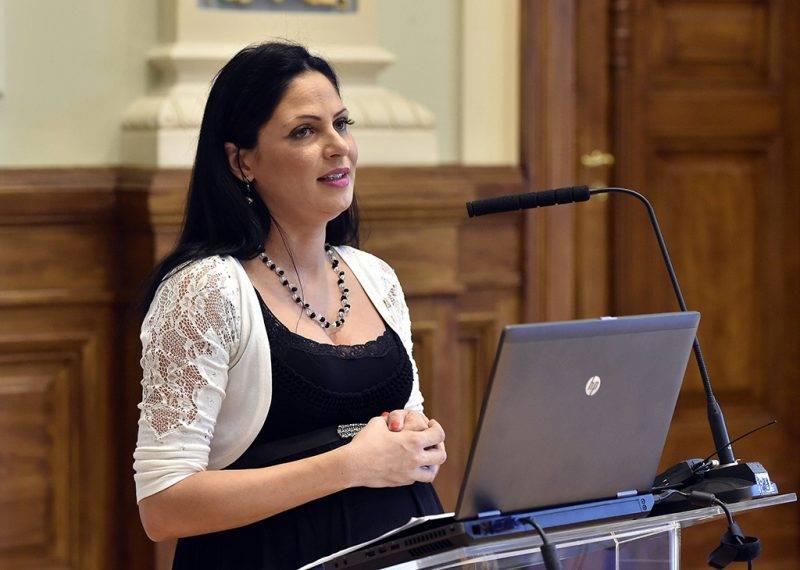 Budapest, 2017. május 25.Boros Anita, a Nemzeti Fejlesztési Minisztérium vagyongazdálkodásért felelős helyettes államtitkára előadást tart az Eljárási jog az Európai Unióban című nemzetközi konferencián a Nemzeti Közszolgálati Egyetemen (NKE) 2017. május 25-én.MTI Fotó: Máthé Zoltán