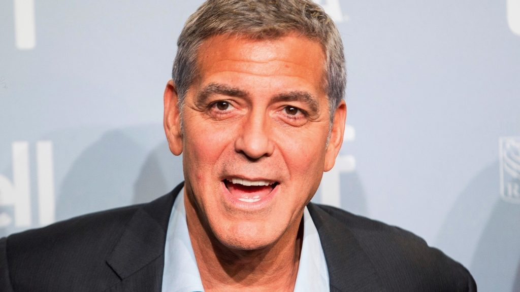 George Clooney makes a face during a photo call for 'Suburbicon' at the Toronto International Film Festival in Toronto, Ontario, September 10, 2017. / AFP PHOTO / Geoff Robins