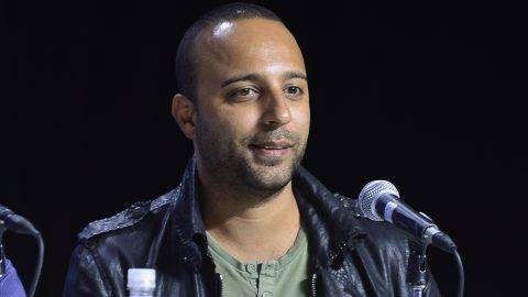 "TORONTO, ON - SEPTEMBER 12:  Actor Arash Labaf speaks onstage at the ""Rhino Season"" press conference during the 2012 Toronto International Film Festival at TIFF Bell Lightbox on September 12, 2012 in Toronto, Canada.  (Photo by George Pimentel/WireImage)"