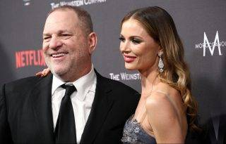 BEVERLY HILLS, CA - JANUARY 08:  Producer Harvey Weinstein (L) and designer Georgina Chapman attend The Weinstein Company and Netflix Golden Globe Party, presented with FIJI Water, Grey Goose Vodka, Lindt Chocolate, and Moroccanoil at The Beverly Hilton Hotel on January 8, 2017 in Beverly Hills, California.  (Photo by Earl Gibson III/Getty Images)
