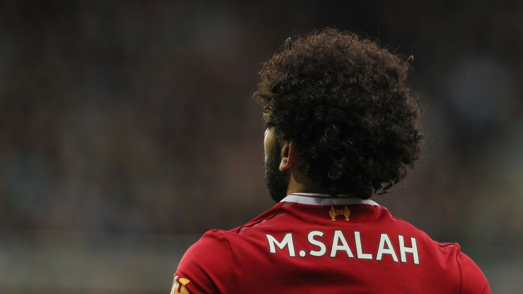 NEWCASTLE UPON TYNE, ENGLAND - OCTOBER 01: Mohamed Salah of Liverpool during the Premier League match between Newcastle United and Liverpool at St. James Park on October 1, 2017 in Newcastle upon Tyne, England. (Photo by Matthew Ashton - AMA/Getty Images)