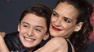 LOS ANGELES, CA - OCTOBER 26:  Actors Noah Schnapp and Winona Ryder arrive at the premiere of Netflix's 'Stranger Things' Season 2 at Regency Bruin Theatre on October 26, 2017 in Los Angeles, California.  (Photo by Axelle/Bauer-Griffin/FilmMagic)