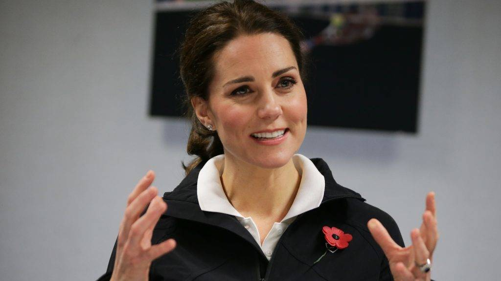 LONDON, UNITED KINGDOM - OCTOBER 31: Catherine, Duchess of Cambridge, attends a briefing on a visit to the Lawn Tennis Association (LTA) at the National Tennis Centre on October 31, 2017 in southwest London, England.  The Duchess of Cambridge, who became Patron of the LTA in December 2016, visited the LTA, the national governing body of tennis in Great Britain, where she was briefed on the organisations latest activities and objectives, and had the opportunity to watch a number of tennis demonstrations at the National Tennis Centre's on-court facilities.  (Photo by Daniel Leal-Olivas/WPA Pool/Getty Images)
