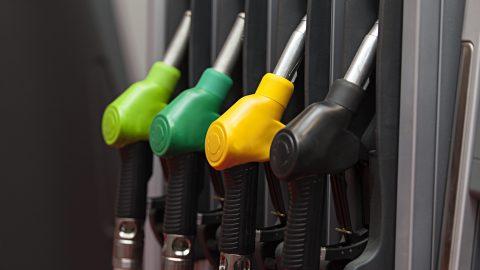 four Gasoline pump