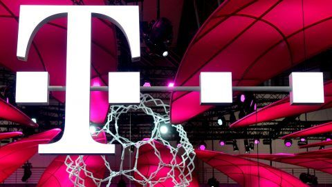 Logo of Telekom, Germany, city of Hannover,21. March 2017. Photo: Frank May | usage worldwide
