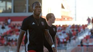 PHOENIX, AZ - JUNE 10: Didier Drogba #11 of Phoenix Rising FC walks off the field after warms ups prior to the match against the Vancouver Whitecaps II at Phoenix Rising Soccer Complex on June 10, 2017 in Phoenix, Arizona.   Jennifer Stewart/Getty Images/AFP