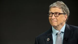 NEW YORK - SEPTEMBER 20: Bill Gates listens to former U.S. President Barack Obama answer questions at the Gates Foundation Inaugural Goalkeepers event on September 20, 2017 in New York City.   Yana Paskova/Getty Images/AFP