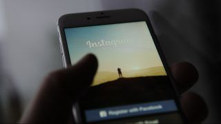 The login screen of the Instagram application is seen on an iPhone on October 25, 2017. (Photo by Jaap Arriens/NurPhoto)