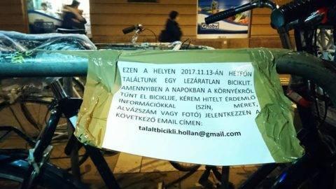 A Jászai környékén elhagyott bringa keresi jogos tulajdonosát