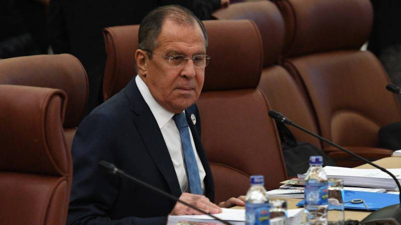 Russia's Foreign Minister Sergey Lavrov takes his seat as he attends the opening of the APEC Ministerial Meeting (AMM) ahead of the Asia-Pacific Economic Cooperation (APEC) Summit leaders meetings in the central Vietnamese city of Danang on November 8, 2017. Leaders from the 21-member APEC organisation will meet in Danang November 11-12.  / AFP PHOTO / POOL / HOANG DINH Nam