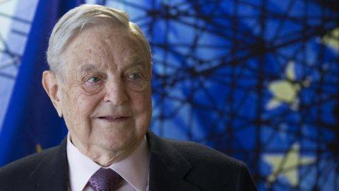 "(FILES) This file photo taken on April 27, 2017 shows George Soros, Founder and Chairman of the Open Society Foundations as he arrives for a meeting in Brussels. George Soros spoke out Monday, November 20, 2017, for the first time about Hungary's ""survey"" on the US financier and philanthropist's views and alleged intentions on immigration, accusing Budapest of ""distortions and outright lies"". / AFP PHOTO / POOL / OLIVIER HOSLET"