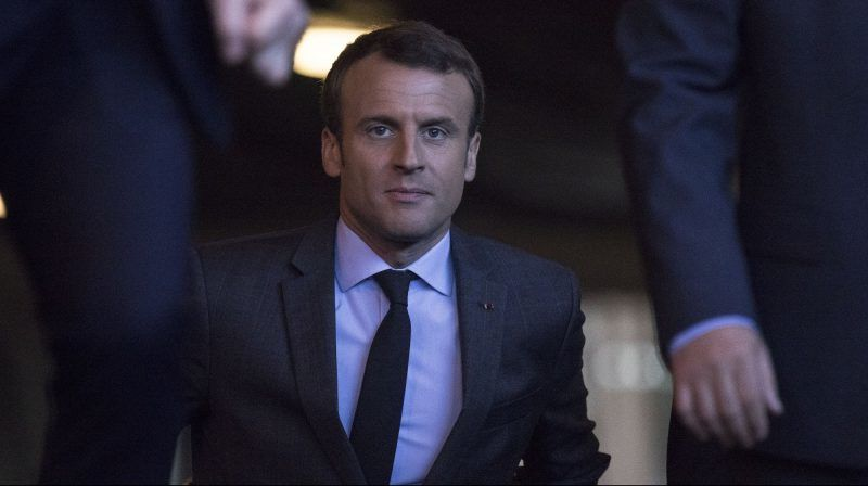 STRASBOURG, FRANCE - OCTOBER 31: President of France, Emmanuel Macron arrives to hold a joint press conference with Council of Europe Secretary General Thorbjorn Jagland (not seen) at the Council of Europe in Strasbourg, France on October 31, 2017. French President Emmanuel Macron addresses the European Court of Human Rights, where he is expected to defend France's controversial anti-terror law that gives authorities permanent powers to search homes, shut places of worship and restrict the movements of suspected extremists. Elyxandro Cegarra / Anadolu Agency