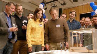 Downsizing (center) Kristen Wiig as Audrey Safranek and Matt Damon as Paul Safranek