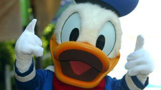 Donald Duck during Donald Duck Honored with a Star on the Hollywood Walk of Fame for His Achievements in Film at Hollywood Walk of Fame in Hollywood, California, United States. (Photo by Matthew Simmons/WireImage)