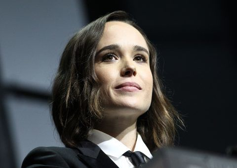 WASHINGTON, DC - OCTOBER 03:  Actress Ellen Page speaks at the 19th Annual HRC National Dinner after receiving the HRC National Vanguard Award at the Walter E. Washington Convention Center on October 3, 2015 in Washington, DC.  (Photo by Paul Morigi/WireImage)