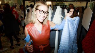 PARIS, FRANCE - OCTOBER 04:  Ksenia Sobchak attend Buro 24/7 Family Presentation of 9 Fashion Designers from Russia, Ukraine and Kazakhstan at Hotel Bristol on October 4, 2015 in Paris, France.  (Photo by Victor Boyko/Getty Images)