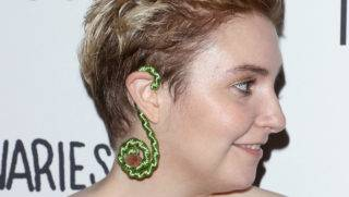 NEW YORK, NY - SEPTEMBER 15:  Actress Lena Dunham, Hair/jewelry detail, attends The 2nd Anniversary Party for Lenny, in partnership with Cole Haan at The Jane Hotel on September 15, 2017 in New York City.  (Photo by Jim Spellman/WireImage)