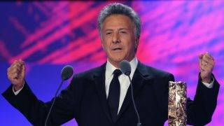 PARIS - FEBRUARY 27:  Actor Dustin Hoffman on stage during the show at the Cesar Film Awards held at the Chatelet Theater on February 27, 2009 in Paris.  (Photo by Pascal Le Segretain/Getty Images)
