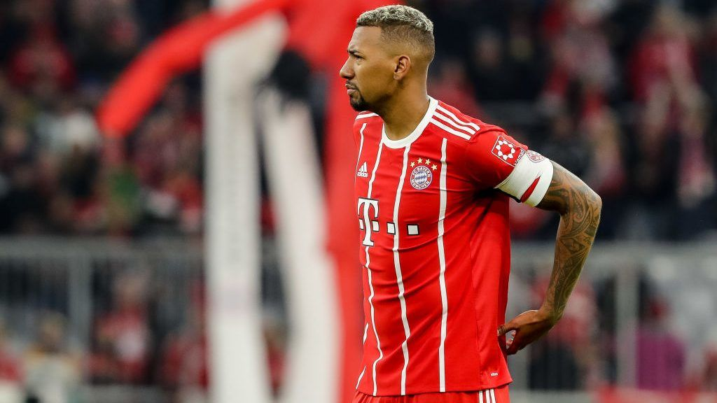 MUNICH, GERMANY - OCTOBER 28: Jerome Boateng of Muenchen looks on after the Bundesliga match between FC Bayern Muenchen and RB Leipzig at Allianz Arena on October 28, 2017 in Munich, Germany. (Photo by TF-Images/TF-Images via Getty Images)