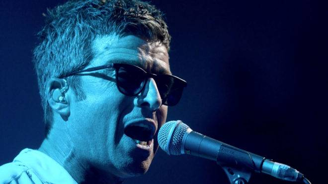LONDON, ENGLAND - NOVEMBER 01:  Noel Gallagher's High Flying Birds perform at Apple Music's 'On The Record', filming at York Hall on November 1, 2017 in London, England.  (Photo by Dave J Hogan/Dave J Hogan/Getty Images)