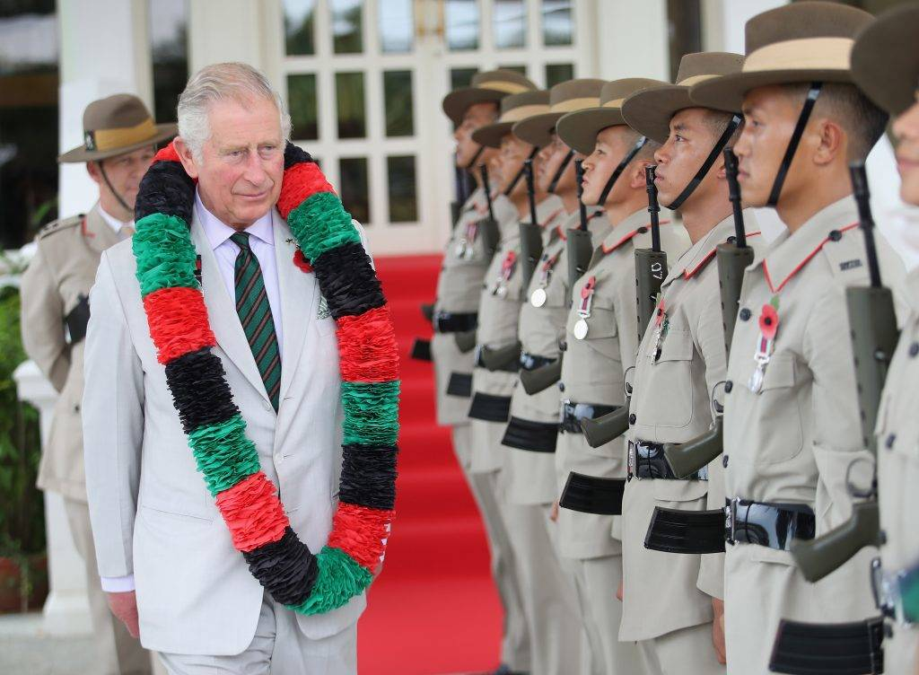 BANDAR SERI BEGAWAN, BRUNEI DARUSSALAM - NOVEMBER 02:  Prince Charles, Prince of Wales attends a Gurkha Reception at the Edinburgh Palace on November 2, 2017 in , Bandar Seri Begawan, Brunei. Prince Charles, Prince of Wales and Camilla, Duchess of Cornwall are on a tour of Singapore, Brunei, Malaysia and India    (Photo by Chris Jackson-Pool/Getty Images)