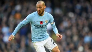 MANCHESTER, ENGLAND - NOVEMBER 05:  David Silva of Manchester City in action during the Premier League match between Manchester City and Arsenal at Etihad Stadium on November 5, 2017 in Manchester, England.  (Photo by Laurence Griffiths/Getty Images)