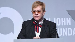 speaks onstage at the Elton John AIDS Foundation Commemorates Its 25th Year And Honors Founder Sir Elton John During New York Fall Gala at Cathedral of St. John the Divine on November 7, 2017 in New York City.