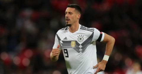 LONDON, ENGLAND - NOVEMBER 10:  Sandro Wagner of Germany runs during the International friendly match between England and Germany at Wembley Stadium on November 10, 2017 in London, England.  (Photo by Boris Streubel/Getty Images)