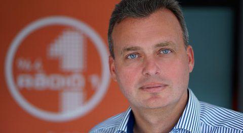 Hauk Zoltán, a Rádió 1 kereskedelmi igazgatója, a Best FM-et működtető Kredit Holding Kft. új ügyvezetője. Fotó: Rádió 1 / 24. hu (archív)