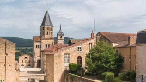 Cluny abbey in France, Burgundy, the church