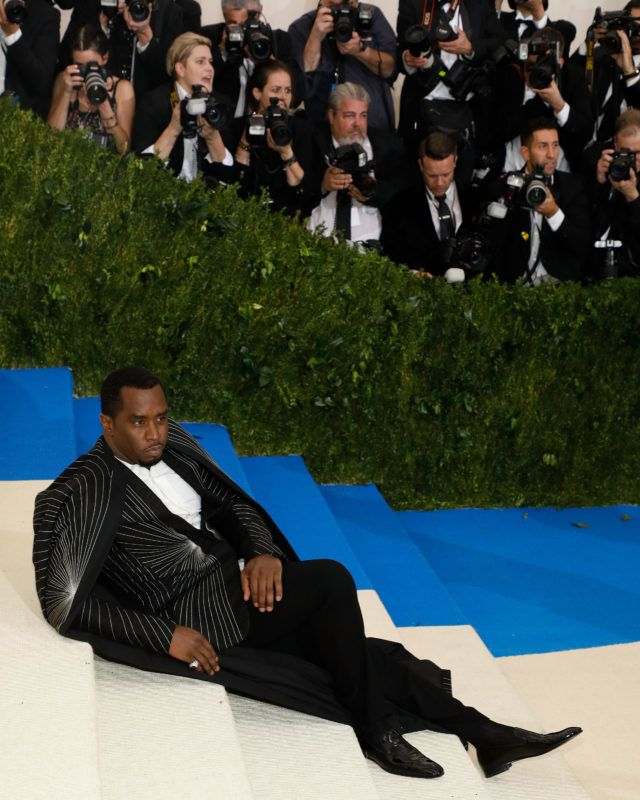"""NEW YORK, NY - MAY 01:  Sean """"Puffy"""" Combs attends """"Rei Kawakubo/Commes Des Garcons: Art of the In-Between"""", the 2017 Costume Institute Benefit at Metropolitan Museum of Art on May 1, 2017 in New York City.  (Photo by Taylor Hill/FilmMagic)"""