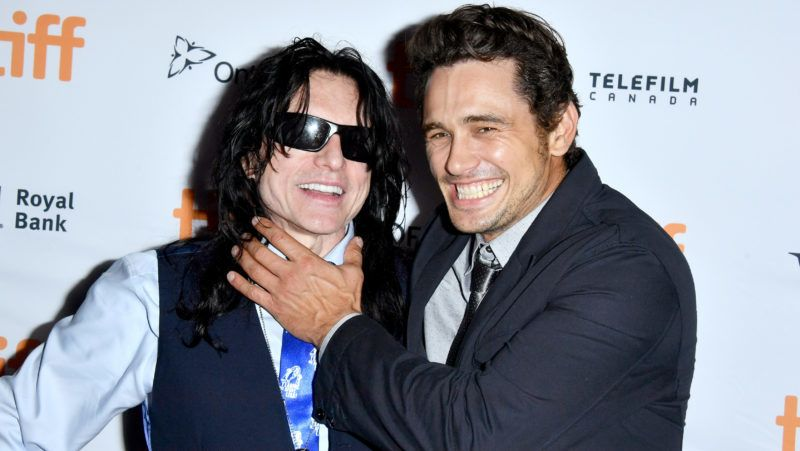 """TORONTO, ON - SEPTEMBER 11:  Tommy Wiseau (L) and James Franco attend """"The Disaster Artist"""" premiere during the 2017 Toronto International Film Festival at Ryerson Theatre on September 11, 2017 in Toronto, Canada.  (Photo by George Pimentel/WireImage)"""