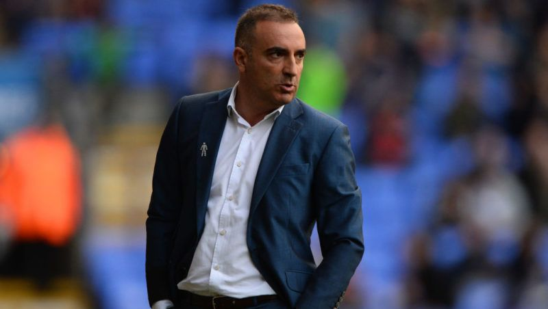 BOLTON, ENGLAND - OCTOBER 14: Carlos Carvalhal manager of Sheffield Wednesday looks on during the Sky Bet Championship match between Bolton Wanderers and Sheffield Wednesday at Macron Stadium on October 14, 2017 in Bolton, England. (Photo by Nathan Stirk/Getty Images)