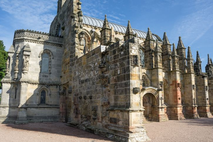 view of the rosslyn chapel