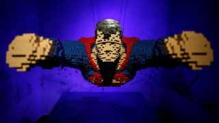 """MADRID, SPAIN - OCTOBER 18: A DC Super Hero character is seen during """"The Art of the Brick: DC Super Heroes"""" Exhibition at the Fernan Gomez Centro Cultural de la Villa in Madrid, Spain on October 18, 2016. The exhibition called """"The Art of the Brick: DC Super Heroes"""" with 120 figures of superheroes done by Nathan Sawaya will be on display at the Fernan Gomez Centro Cultural de la Villa from September 22nd to February 12th.   Burak Akbulut / Anadolu Agency"""