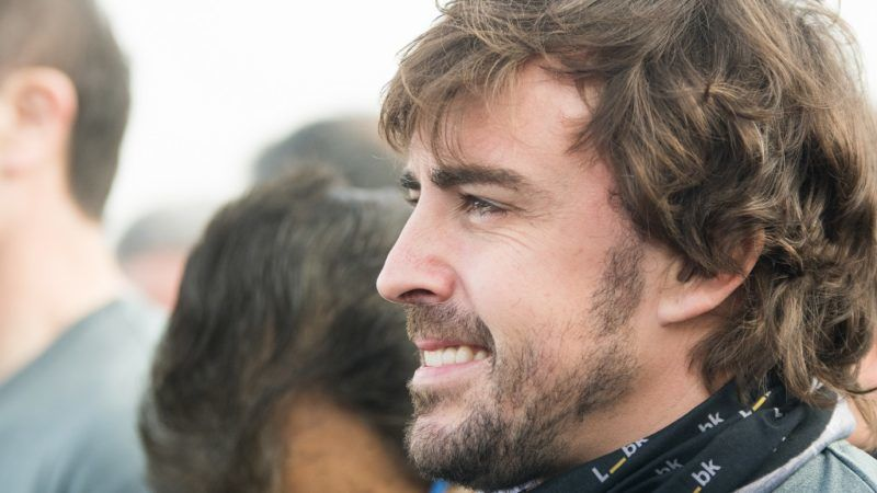 Spanish Formula One driver Fernando Alonso takes part in the 7th edition of the Fernando Alonso-Liberbank Foundation charity race held in Asturias, Spain on December 24, 2017.