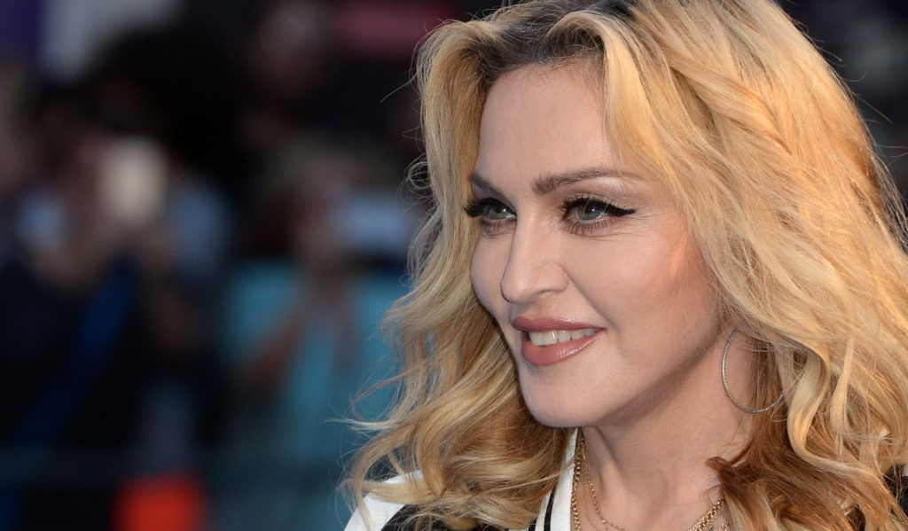 """LONDON, ENGLAND - SEPTEMBER 15:  Madonna attends the World premiere of """"The Beatles: Eight Days A Week - The Touring Years"""" at Odeon Leicester Square on September 15, 2016 in London, England.  (Photo by Anthony Harvey/Getty Images)"""