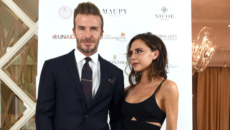 LONDON, ENGLAND - NOVEMBER 19:  David Beckham and Victoria Beckham attend the Global Gift Gala in partnership with Quintessentially on November 19, 2016 at the Corithinia Hotel in London, United Kingdom.  (Photo by Karwai Tang/WireImage)