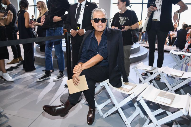 NEW YORK, NY - SEPTEMBER 13: Mario Testino attends the Michael Kors Collection Spring 2018 Runway Show at Spring Studios on September 13, 2017 in New York City.  (Photo by Dimitrios Kambouris/Getty Images for Michael Kors)