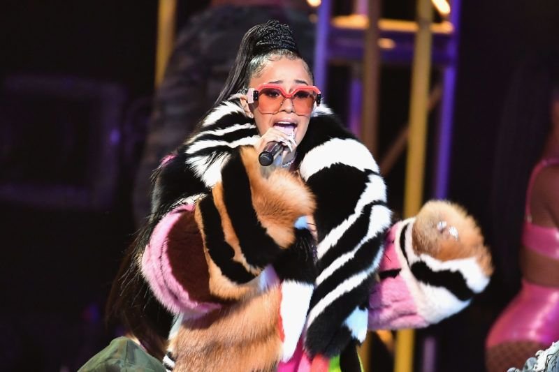 MIAMI BEACH, FL - OCTOBER 06:  Cardi B performs onstage during the BET Hip Hop Awards 2017 at The Fillmore Miami Beach at the Jackie Gleason Theater on October 6, 2017 in Miami Beach, Florida.  (Photo by Gustavo Caballero/Getty Images for BET)