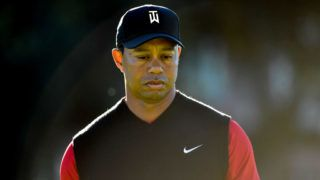 SAN DIEGO, CA - JANUARY 28:  Tiger Woods looks on on the 11th hole during the final round of the Farmers Insurance Open at Torrey Pines South  on January 28, 2018 in San Diego, California.  (Photo by Donald Miralle/Getty Images)